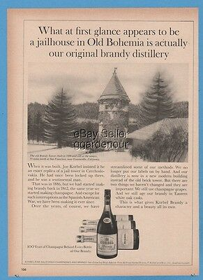 1967 Korbel The Brandy Tower Guerneville CA vintage photo print winery ad