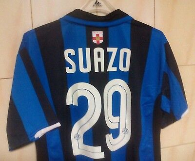 Inter Milan home Centenary, shirt Nike XL 2007/08 UVGC,/  SUAZO 29
