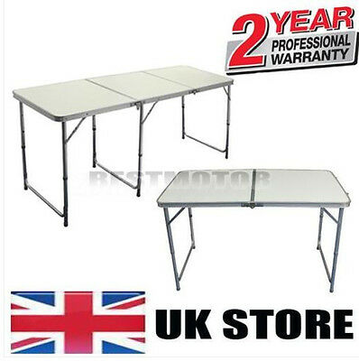 4FT/6FT CAMPING PICNIC PROTABLE CATERING PARTY OUTDOOR FOLDING TABLE BBQ White