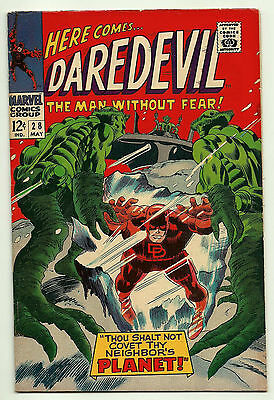 Daredevil #28 FN Silver-Age Marvel Comics 1967 Gene Colan Alien Cover Ayers Lee