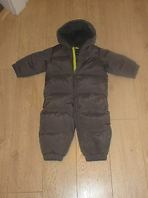 Baby Gap Down Snow Suit 12-18 months Gray With Fleece Lining