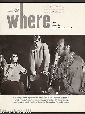 """Cliff Gorman """"THE BOYS IN THE BAND"""" Mart Crowley 1969 Los Angeles Magazine"""
