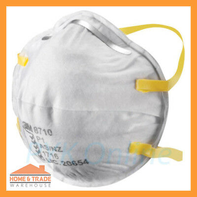 P1 Particulate Respirator 3M 8710 Dust Mist Safety Disposable Mask Box of 20