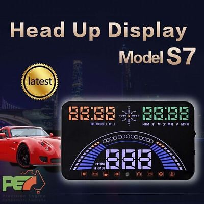 """S7 5.8"""" Head Up Display OBD2 & GPS Windscreen Speedometer Sys For Ford Fairmont"""