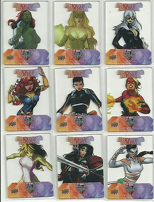 2016 Upper Deck Marvel Gems Crystal Clear Plexi-Glass 20 Card Complete Set