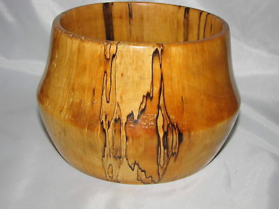 Spalted ASPEN Hand Made BOWL with Encased US HALF DOLLAR Gerard Bachand