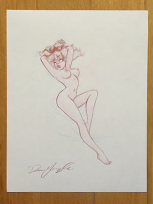 Dean Yeagle MANDY Marilyn Monroe Pose Pin-Up Girl AUTOGRAPHED Sexy ORIGINAL ART