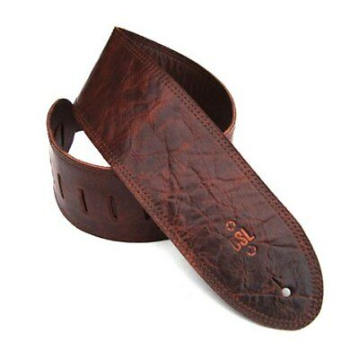 DSL Strap Guitar Bass Distressed Garment Leather Brown 3.5 Inch Aus Made NEW