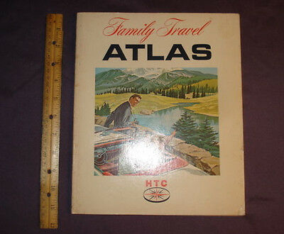 """1967 HTC, Humble Travel Club Family Travel ATLAS 9 1/4"""" X 11 1/4"""" 96 pages"""