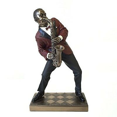 wu Alto Saxophone Player Statue Sculpture - Jazz Band Collection