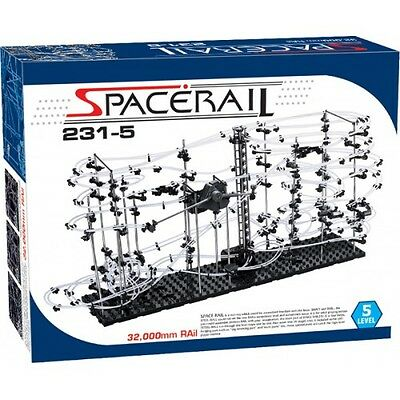 SpaceRail 231-5 Level 5 Steel Marble Run Roller Coaster kit with 32,000mm rail