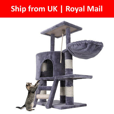 NEW Kitten Scratching Post Tree Scratcher Bed Activity Centre Cat Climbing Toy