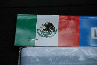 MEXICO FLAG  3X5 foot in Poly, reinforced header and brass grommets to mount