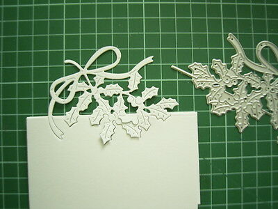 Over The Edge CHRISTMAS HOLLY DIE etl303 Tattered Lace Stephanie Weightman