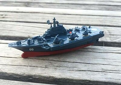 New Mini Blue Remote Control Ship Aircraft Carrier Model Gift Toys #