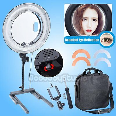 Dimmable Diva 400W 34cm Table Top Ring Light Beauty Make Up Selfie Video Photo