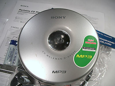 Sony D-NE005 CD MP3 Walkman Personal Stereo Compact Disc Stereo Player Silver