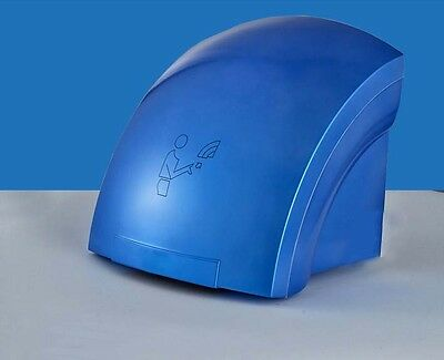 New Blue Plastic Bathroom Wall Mounted Automatic Induction Hand Dryer Machine
