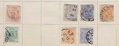 Ls119  Extremely Early Used Stamps From Finland On Old Album Page