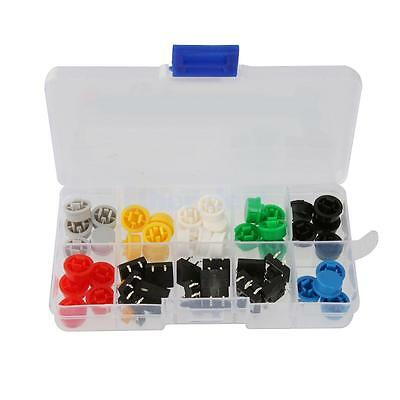 50x Tactile Push Button Switch 12x12mm Momentary Tact and Round Caps Keycap