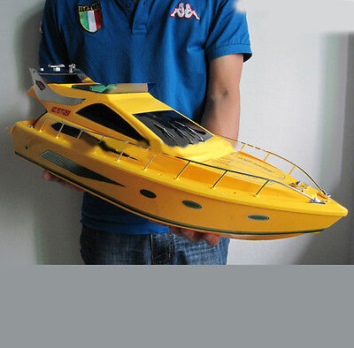 Yellow High-Speed New Length 65cm Remote Control Boat Children's Gift Toys #