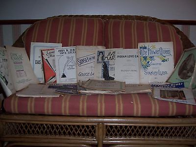 Large selection of old sheet music and song books