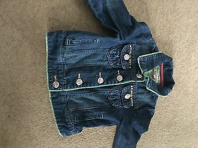 Girls Denim Jacket From Blue zoo 2-3 Yrs