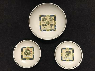 OVER AND BACK Large Serving Bowl and 2 Salad Pasta Bowls
