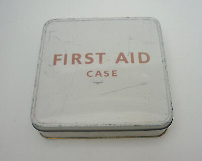 VINTAGE FIRST AID tin BOX complete with original contents
