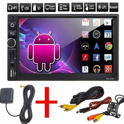 "7"" HD 2 Din Android Dual Core Car Stereo GPS MP5 Player Radio 3G Wifi + Camera"