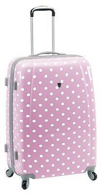 Valise cabine rigide madisson Canberra rose à pois