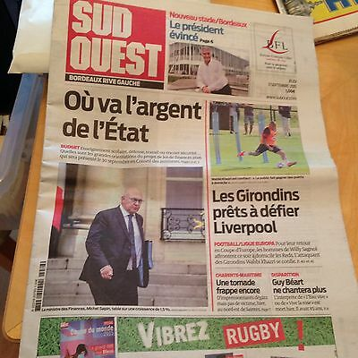 Bordeaux v Liverpool day of match newspaper 17.9.2015