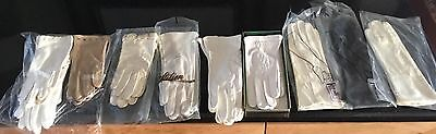 Lot of 10 Vintage Women's Gloves~ Leather 8 ~Nylon 2 ~ STETSON,FOWNES, More