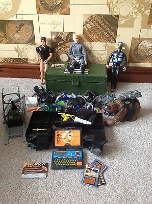 JOB LOT - 3x ACTION MAN,+ DIARY, CASE, ACCESSORIES, ETC. ETC.