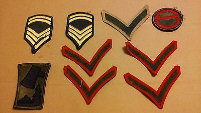 Lot Of 9-Unused Military Sew-On Uniform Patches