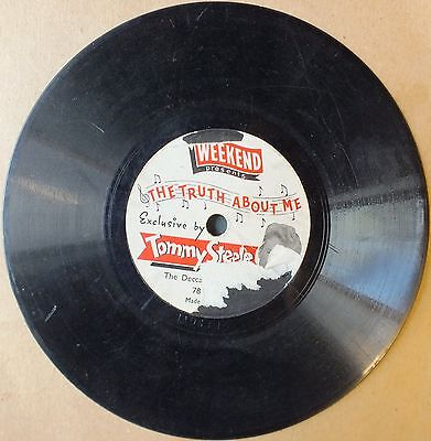 "TOMMY STEELE. THE TRUTH ABOUT ME. 78rpm 6"" Single."