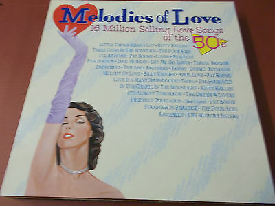 MELODIES OF LOVE: 16 MILLION SELLING LOVE SONGS OF THE 50's: VINYL LP: 1987