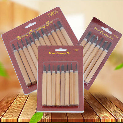 12/8/6Pcs Set Wood Carving Chisels Tool Knife Woodcut Woodworking Craft Kit SM