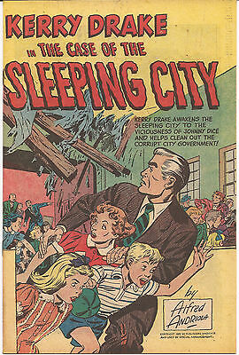 Kerry Drake In The Case Of The Sleeping City  Vf+  1951  Rare Armed Forces Givea