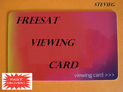 ACTIVATED 2016 RED FREESAT VIEWING CARD PLUS & HD * FREE POST* PIN included