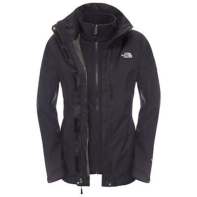 The North Face Evolve II Triclimate 3-in-1 Waterproof Women's Jacket, Black UK M