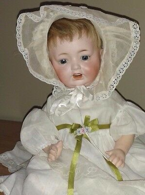 "Antique Morimura Brothers 14"" Baby Doll w/2 WIGS"