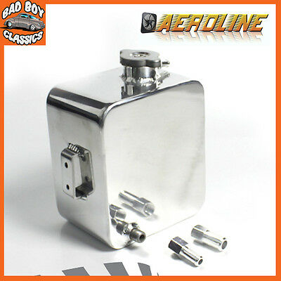 Aeroline Polished Alloy Aluminium Car Water Expansion Overflow Tank 2.5L