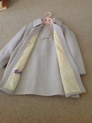 Vintage girls coat and dress 1960s age 4-5