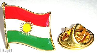 10 pcs x Kurdistan Country Flag Lapel Hat Cap Tie Pin Badge Kurds Kurdish Joblot