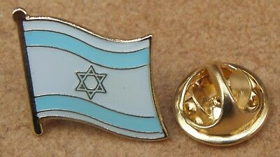 10 PCS x Israel Flag Star of David Lapel Pin Badge Brooch Māḡēn Dāwīḏ Badge