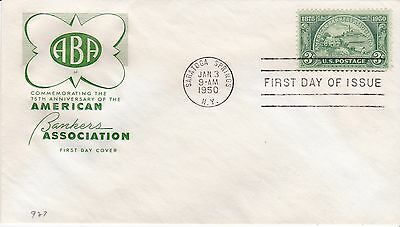 First day cover, Scott #987, American Bankers, Farnam cachet, 1950