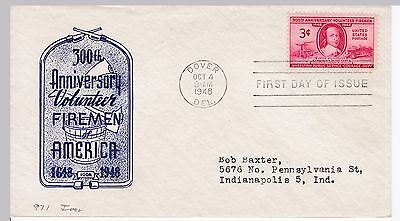 First day cover, Scott #971, Firemen, Planty 971-6, Ioor cachet, 1948