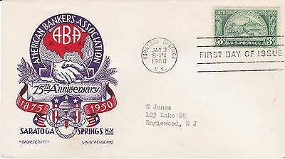First day cover, Sc #987, Bankers, Planty 987-7, Cachetcraft/Staehle, 1950