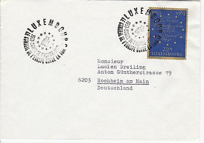 First day cover, Luxembourg, Scott #402, Human Rights Convention, 1963